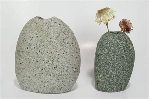 Vase With Stones by Large Vase