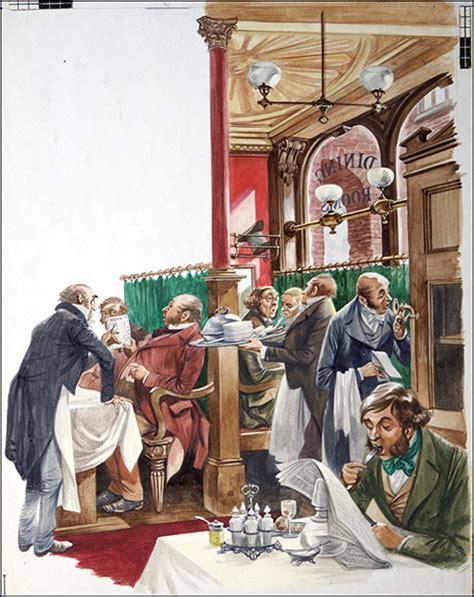 victorian dining room  peter jackson   illustration