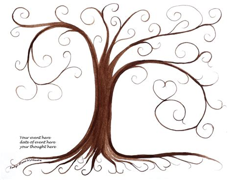 friendship tree template graduation gift thumbprint tree guest book pdf file printable