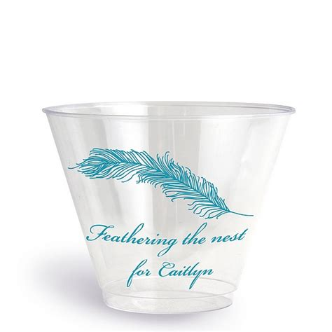 clear plastic disposable baby shower cups  oz