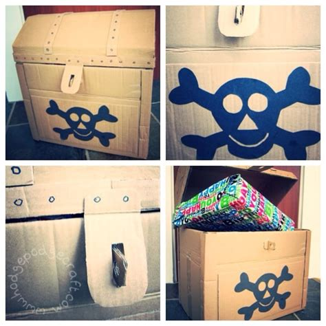 How To Make A Paper Treasure Chest - avast ye crafty land lubbers learn how to make mini
