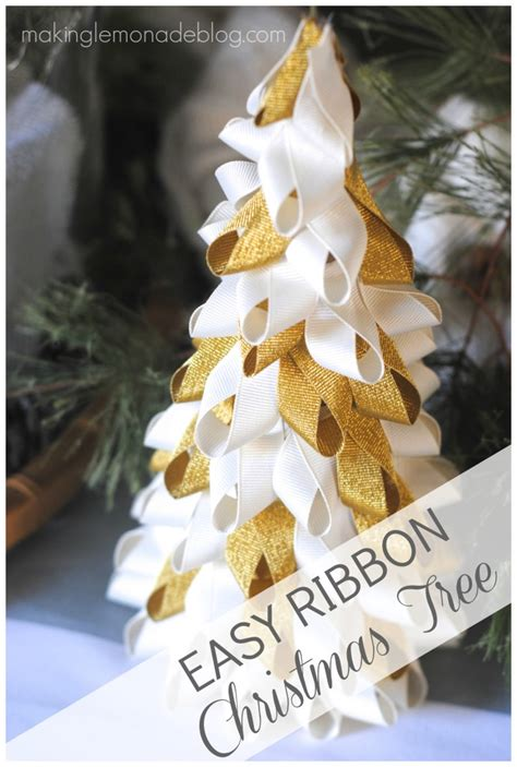How To Make Ribbon Decorations For Tree by In A Minute Easy Ribbon Trees Lemonade