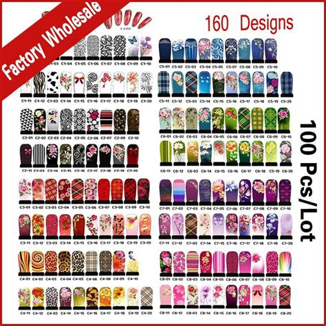 printable nail stickers paper promotion hundreds designs nail art water decals