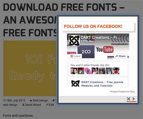 facebook fan page plugin 10x your facebook fans with wp facebook like popup plugin