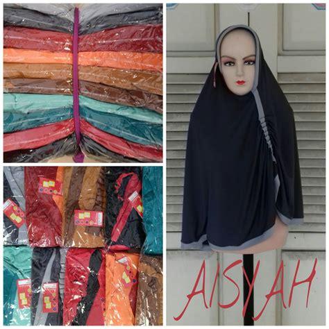 Grosir Baju New Aisyah Syari Black sentra kulakan jilbab aisyah tebaru modern murah 26ribu peluang usaha grosir baju anak