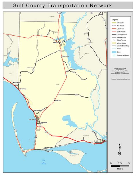 Gulf County Search Gulf County Road Network Color 2009