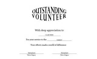 Volunteer Of The Year Certificate Template by Outstanding Volunteer Certificate Free Templates Clip