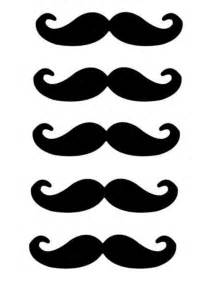 Mustach Template by Large Mustache Template Clipart Best