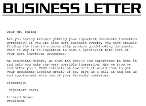Business Letter Writing Business Letter Exle 3000 Business Letter Template
