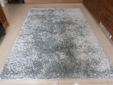 silver grey rugs spider silver grey luxury sparkle spaghetti strand shaggy rug in various sizes ebay