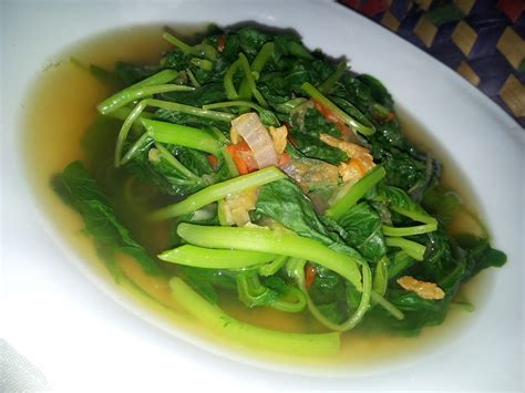 memasak sayur bayam  benar  enak resep