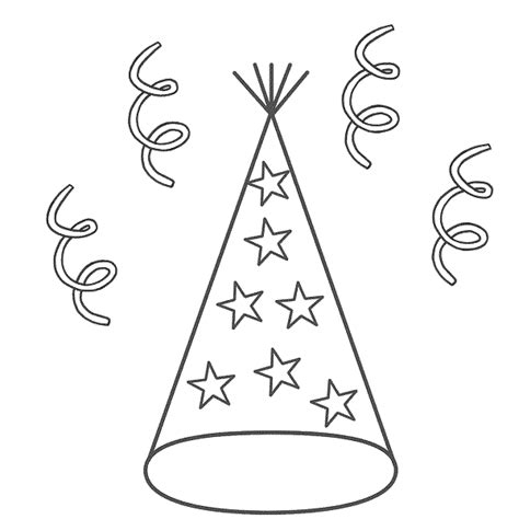 coloring pages of birthday hats happy birthday party hat coloring pages coloring