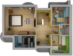 Home Plans With Photos Of Interior Home Interior Floor Plan 02 3d Model