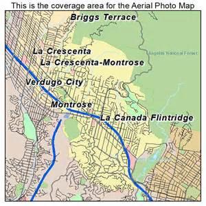 la canada california map aerial photography map of la canada flintridge ca california