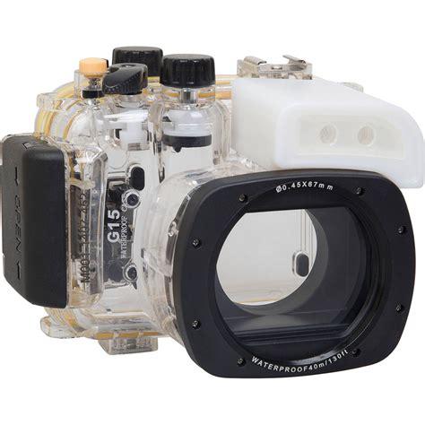 underwater housing for canon polaroid underwater housing for canon powershot g15 plwpcg15 b h