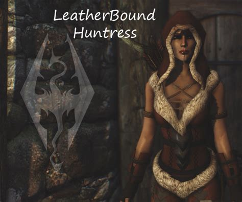 skyrim unpb huntress armor leatherbound huntress armor at skyrim nexus mods and