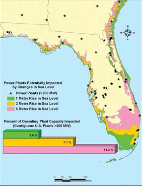florida nuclear power plants map reads sea