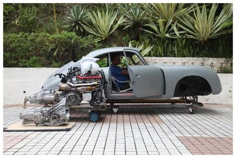 Audi With Porsche Engine by Porsche 356 With Audi V8 Mid Engine Powered Insane