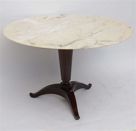 italian modern onyx and walnut center or dining table by