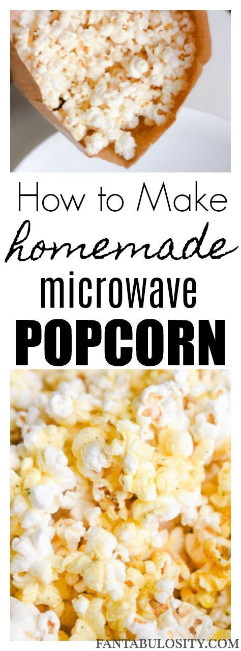 How To Make Popcorn In A Paper Bag - 25 best popcorn ideas on