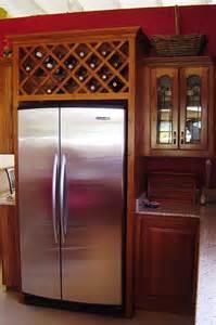 Kitchen Cabinet Wine Rack Ideas Wine Rack Above Fridge Wine Rack