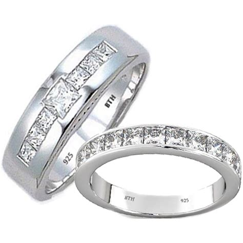 his and hers matching tungsten carbide wedding engagement