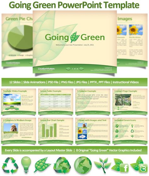 green presentation template going green powerpoint template graphicriver