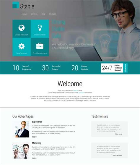 responsive template for 50 free responsive html5 and css3 templates