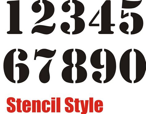 small printable numbers 1 10 7 best images of small printable stencil numbers 1 10
