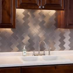 Stick On Backsplash Tiles For Kitchen by 32 Pcs Peel And Stick Kitchen Backsplash Adhesive Metal