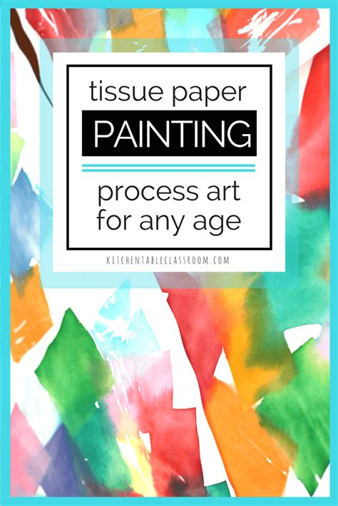 tissue paper painting tissue paper bleed process art