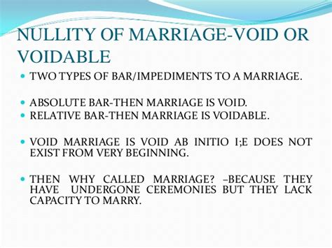 Nullity of marriage under christian law