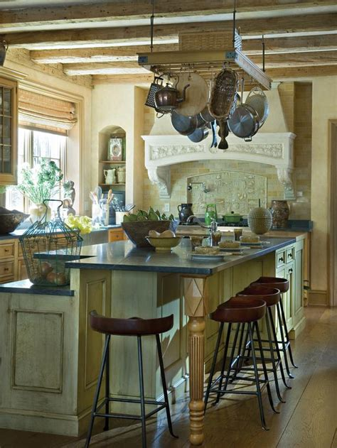 hgtv country kitchens country kitchen with weathered barn beams and plaster