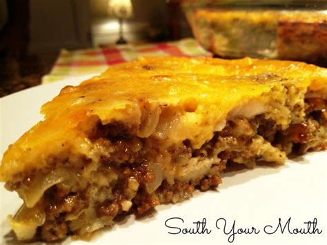 south your mouth cheeseburger pie