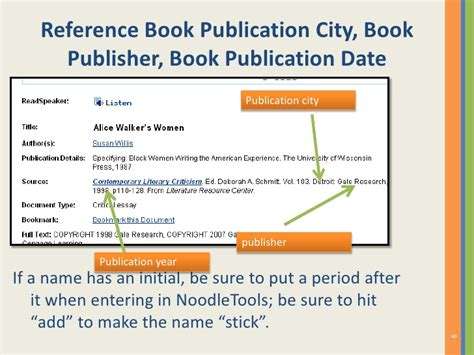 reference book publishers how to cite a reference source from the gale literature