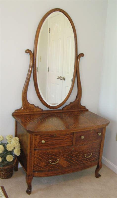 Antique Dresser Restoration by Early 1900s 3 Drawer Oak Dresser With Original Glass