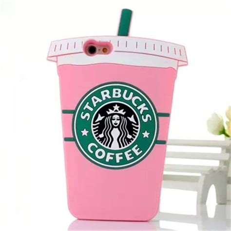 Starbucks Coffee Iphone All Hp pink 3d starbuck coffee cup silicon phone for iphone all soft back cover for