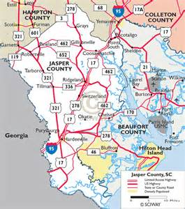 jasper county map maps of jasper county south carolina