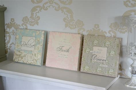 shabby chic set 3 wall canvas prints pictures ebay