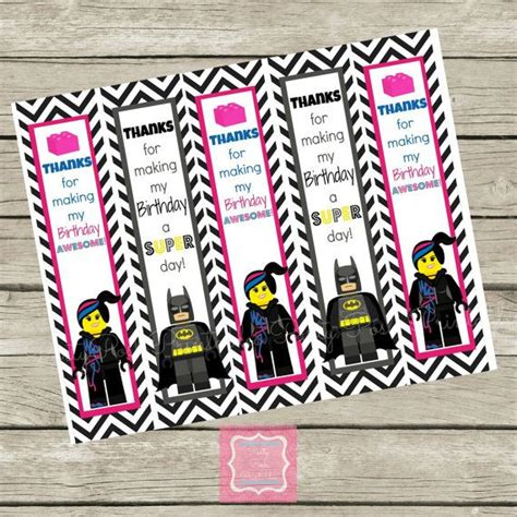 printable batman bookmarks lego movie wild style batman birthday thank you bookmarks