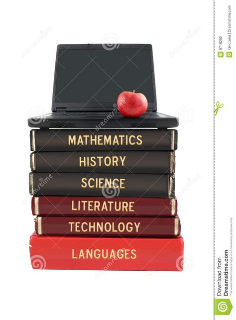 tech how to master the of dreaming books school subject books and laptop stock photography image
