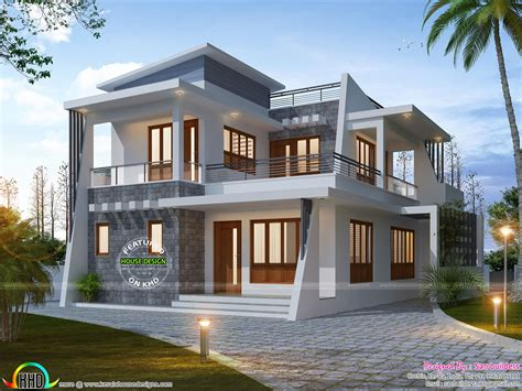 new house designs 4 bedroom modern home 1885 sq ft kerala home design and floor plans