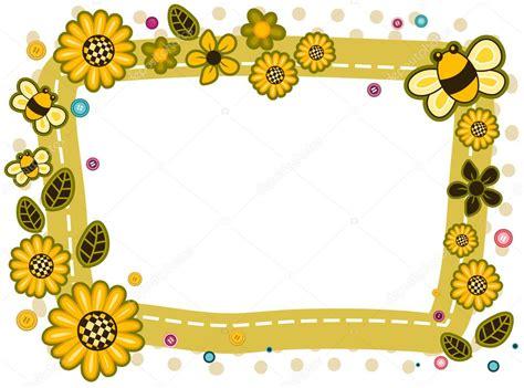 design frame html sunflowers and bees frame design stock photo 169 lenmdp