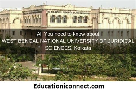 Mba Course Fees In West Bengal by The West Bengal National Of Juridical Science