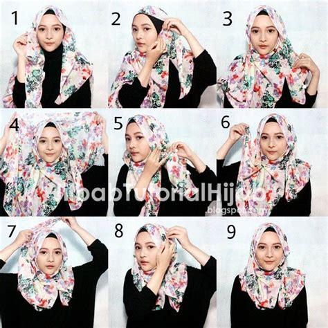 tutorial hijab segi empat terbaru simpangcom