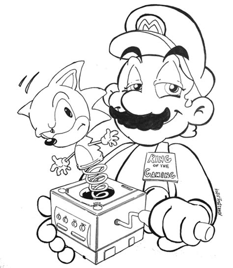 mario and sonic pictures az coloring pages