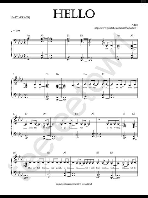 adele a piano piano sheet music hello adele piano sheet piano