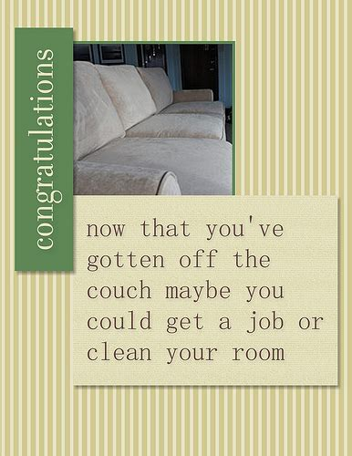 inappropriate congratulations greeting card created with