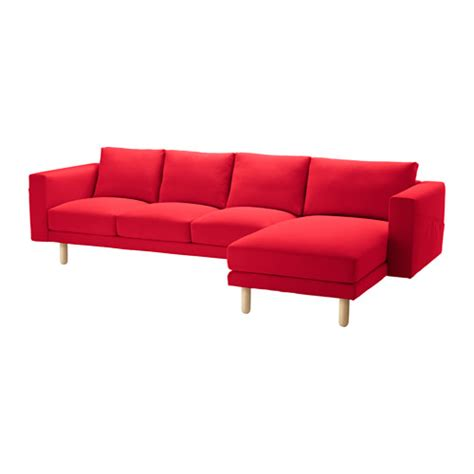 red sofa with chaise norsborg cover for sofa with chaise finnsta red ikea