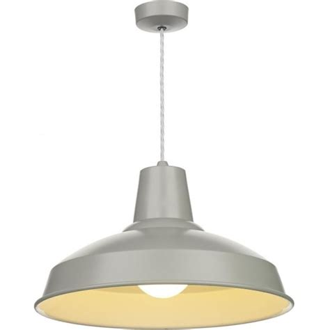 Grey Pendant Ceiling Light by Retro Style Grey Painted Metal Ceiling Pendant For